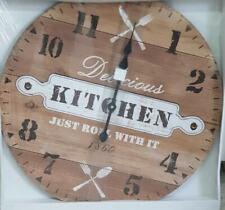 Orologio Da Parete 60 Cm In Legno Kitchen Just Bowl Whit it