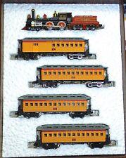 Union Pacific Oldtime 4 4 0 Locomotora de Vapor Madera + 4 Pasajero Bachmann N