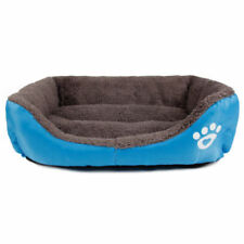 Pet Large Dog Cat Nesting Bed Puppy Soft Cushion Warm Mat Blue Kennel Size 2xl