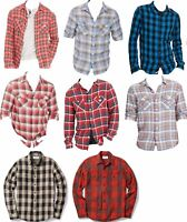 Polo Ralph Lauren Denim & Supply Mens Plaid Flannel Blue Red Button Down Shirt