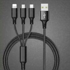3 in 1 Fast Charging USB Cable Universal Multi-function Cell Phone Charger Cord