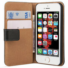 For iPhone 5 5s SE Leather Wallet Case Cover Plus Screen Protector