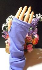 2 pair pr.of gloves,White knit,blue cotton blend,both are elbow lenght&fingeless