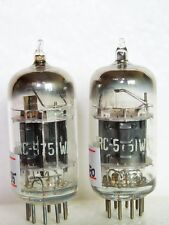 Matched Pair RCA 5751WA Black Plates 3 Mica Square Getter=12AX7 ECC83 TUBES