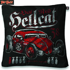 Hotrod 58 Hellcat Liquor Brand vw Rat Rod Cushion Cover Tattoo Rockabilly Biker