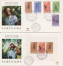 Suriname - E64 en E65 (Kinderzegels 1968) -  Blanco / Open klep