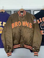 Vintage NFL Starter Cleveland Browns Satin Bomber Jacket Size L