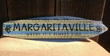"Margaritaville Always 5 o'clock Mini Novelty Beach Surf Board Sign 17"" x 4.5"""