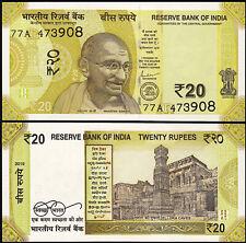 India 20 Rupees 2019,  UNC , GANDHI , P-New , New Design
