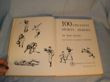 Book 100 Greatest Sports Heroes Revised Edition 1958 Hard Bound HB Vintage