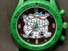 New, Teenage Mutant Ninja Turtles Group Shot Green Rubber Strap Watch TMN9046