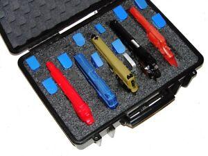 New Armourcase 1500 Heavy Duty Waterproof + precut 5 Pistol Gun case foam +bonus