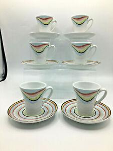 Debenhams Optimist by Spal Porcelain Portugal 6 Piece Espresso Set (MF157G) GA