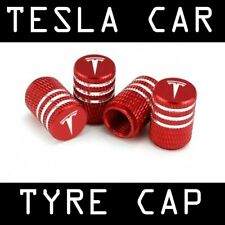 Tesla Motors Custom Aluminium Valve Stem Cap Red/Black Cybertruck Model S