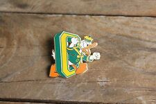 "NEW Oregon Ducks * Disney's ""Donald Duck thru the O"" 1"" Metal Lapel Pin"