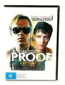 Proof (DVD, 1991) Hugo Weaving Russell Crowe Region 4 Free Postage
