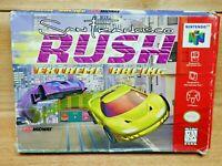 San Francisco Rush Extreme Racing (Nintendo 64, 1997) Game and Box Tested