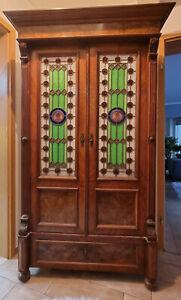 Schrank Antik Holz Holzschrank Alt Schick Guter Zustand Wandschrank