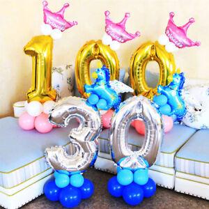 "16"" 30"" Large number Foil Balloons Air Glitz Baloons Birthday Wedding ballon"