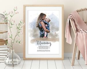 Custom Watercolour Style Portrait of your special moments, from your photos