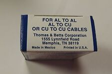 THOMAS & BETTS BLUE COLOR KEYED COMPRESSION H-TAP CRIMP 63148 20 CT