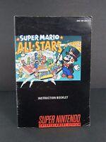 Super Mario All Stars SNES Super Nintendo Entertainment System Game Manual