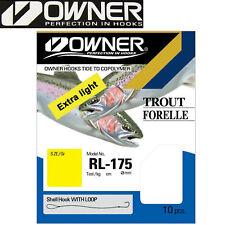 Owner Forelle Fluorocarbon Blau 60cm 0,25mm Gr 8 Vorfachhaken