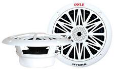 NEW Pyle PLMR82 300 Watts 8'' 2 Way White Marine Speakers