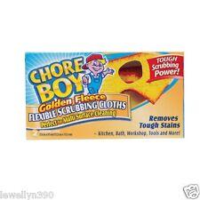 NEW! 2pk Golden Fleece Chore Boy Scouring Household Cloths Pads- 1 box of 2