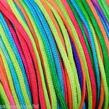 10M Rainbow / Neon Braided nylon Cord Thread great for Shamballa Kumihimo1.8mm