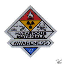 HAZMAT AWARENESS STICKER FOR FIRE HELMET