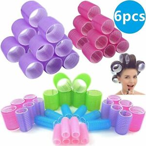 6 Pcs/Packs Hair Rollers Self Grip Hair Curlers Hair Roller Sticky Cling Style