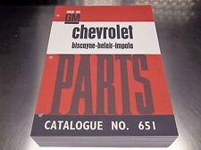58-65 IMPALA BELAIR BISCAYNE Master Parts Catalog Dec 64 printing