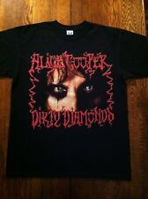 Alice Cooper Dirty Diamonds 2005 Tour T Shirt - Size L - Anvil