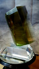 THE GREEN Crystal box Acrylic Sculpture- Shlomi Haziza & HStudio Mint RARE