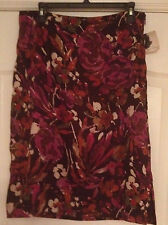 NWT Jaclyn Smith Floral Skirt Womens 10
