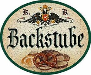 """Nostalgieschild  """"Backstube"""" Schild Bäckerei backen Brot"""