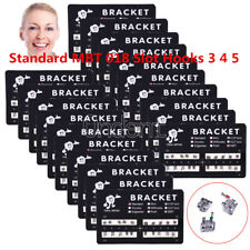 100X Orthodontic Dental Brackets Metal Braces Standard MBT 018 Slot Hooks 3 4 5
