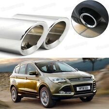 Car Exhaust Muffler Tip Tailpipe Trim Silver for Ford Kuga Escape 2013-2016 A040