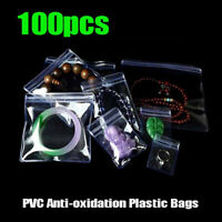 100Pcs Anti-oxidation Resealable Plastic Bag Clear Zip Lock Jewelry Storage Pack