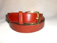 FASOLO MEN'S BROWN LEATHER BELT, MADE IN ITALY, SIZE MEDIUM, 35-37 WAIST, NEW!