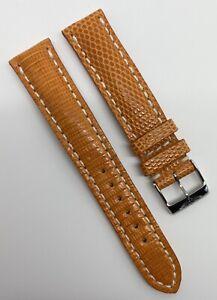 Authentic Rare New Breitling 18mm x 16mm Orange Lizard Watch Strap Band 118Z OEM