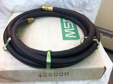 """NEW,OLD STOCK MSA P/N 455020 3/8"""" AIR SUPPLY HOSE 15'  WP 250 LB BRASS FITTINGS"""