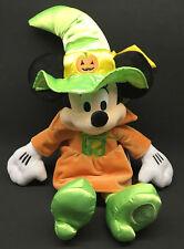 "Genuine Disney Parks Halloween Minnie Mouse Witch Costume 16"" Plush Stuffed Doll"