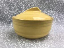 Vintage Yellow Handy Andy Casserole Dish Dutch Oven Bowl Homer Laughlin Fiesta