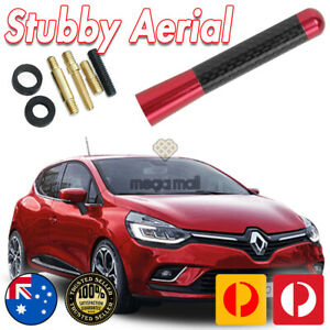 RED ANTENNA / AERIAL STUBBY BEE STING For Renault CLIO RS200 Turbo 2013-2020 7CM