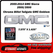 2000-2014 GMC Sierra 3500 HD Chrome Aluminum GMC Tailgate Emblem AMI 96502C