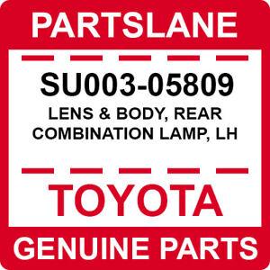 SU003-05809 Toyota OEM Genuine LENS & BODY, REAR COMBINATION LAMP, LH