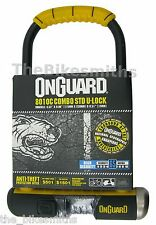 "OnGuard Bulldog 8010C Combination U-lock Combo Bike Urban 9"" x 4.5"" & Bracket"