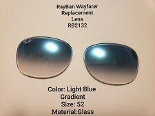 RayBan Wayfarer Replacement Lens Rb2132 Light Blue Gradient Glass